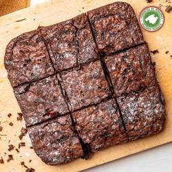 Brownie de chocolate con pipas de calabaza...