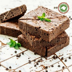 Chocolate brownie with agave syrup (SUGARFREE)...