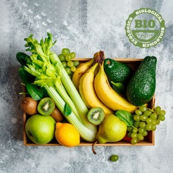 Boîte De Fruits Et Légumes Bio