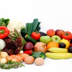 Boîte Traditionnelle De Fruits Et Légumes
