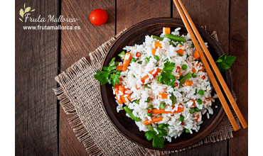 Receta arroz basmati con verduras ecológicas